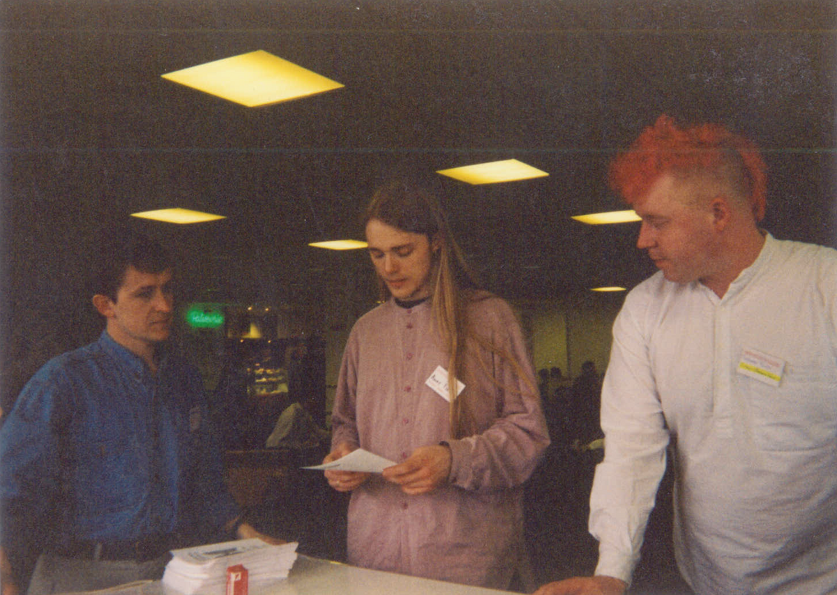 With Andy Field (the stats book guy) when we were both on the Student Members Group Committee at the British Psychological Society Conference, Warwick, UK, 1995