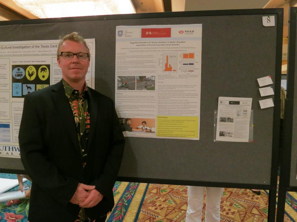 At the International Neuropsychological Society Conference, Hawaii, USA, 2013