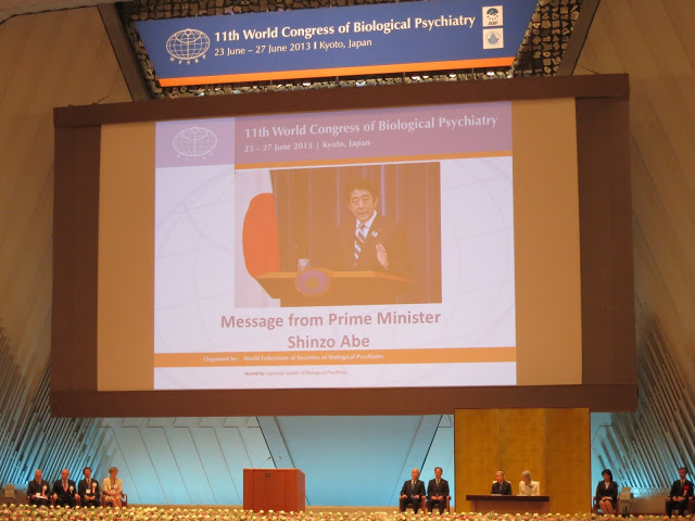 World Congress of Biological Psychiatry, opened by the Emperor and Empress of Japan, Kyoto, 2013